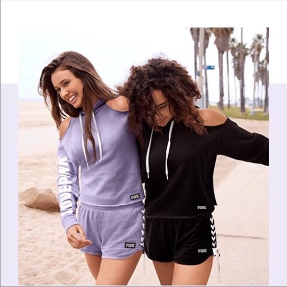 a698e218c9be1 Victoria s Secret PINK cold shoulder sweatshirt